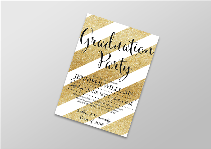 Color Graduation Invite