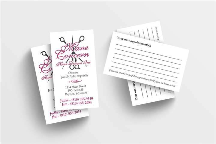 Two Color Business Card