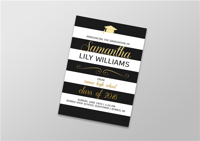 Color Graduation Invitation