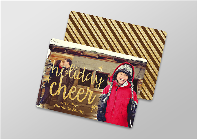 Two Sided Color Christmas Card