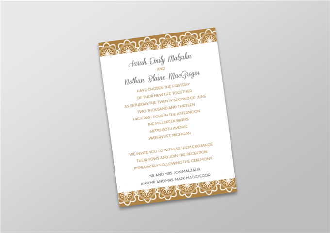 Wedding Invite with Digital Gold