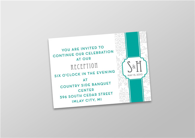 Reception Invitation in Color