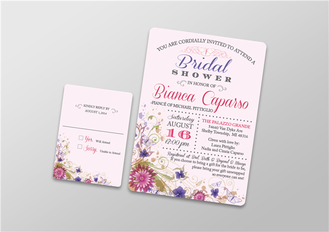 Color Invitation with RSVP Card