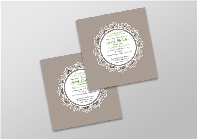 Square Color Invite