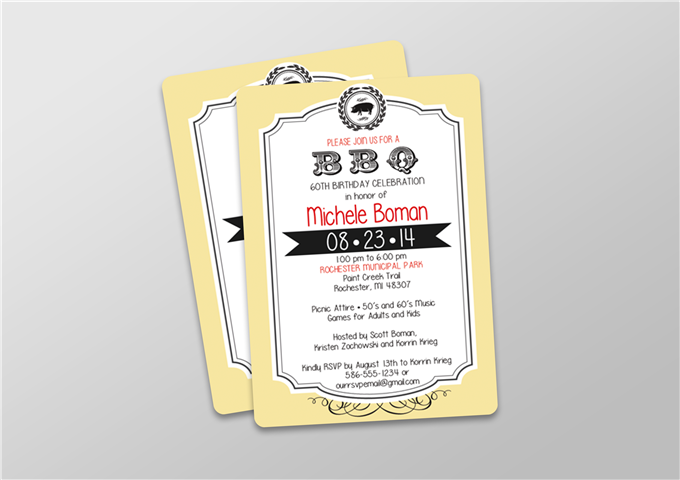 BBQ Party Invitation in Color