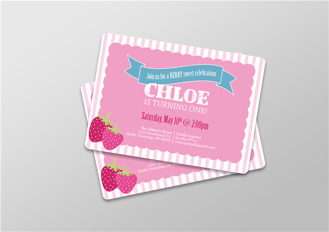 First Birthday Color Invite