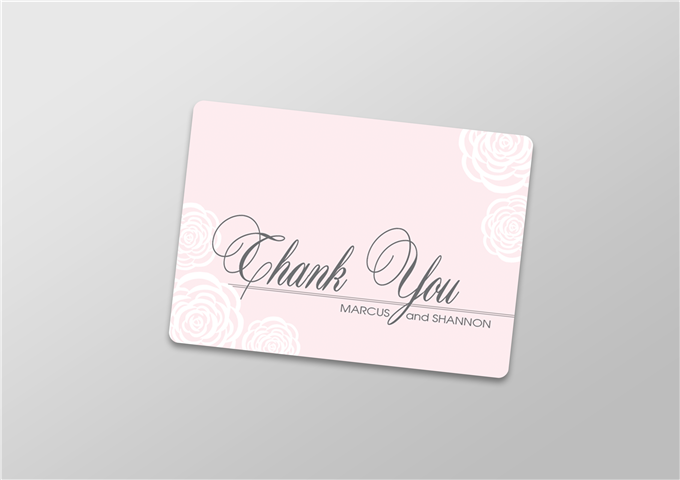Color Thank You Card